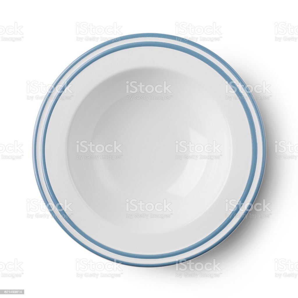 Empty plate pattern design with clipping path foto stock royalty-free
