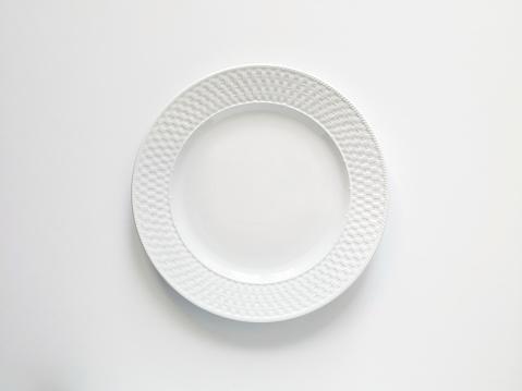 Empty plate on white background.u