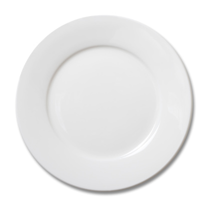 Empty plate on white.