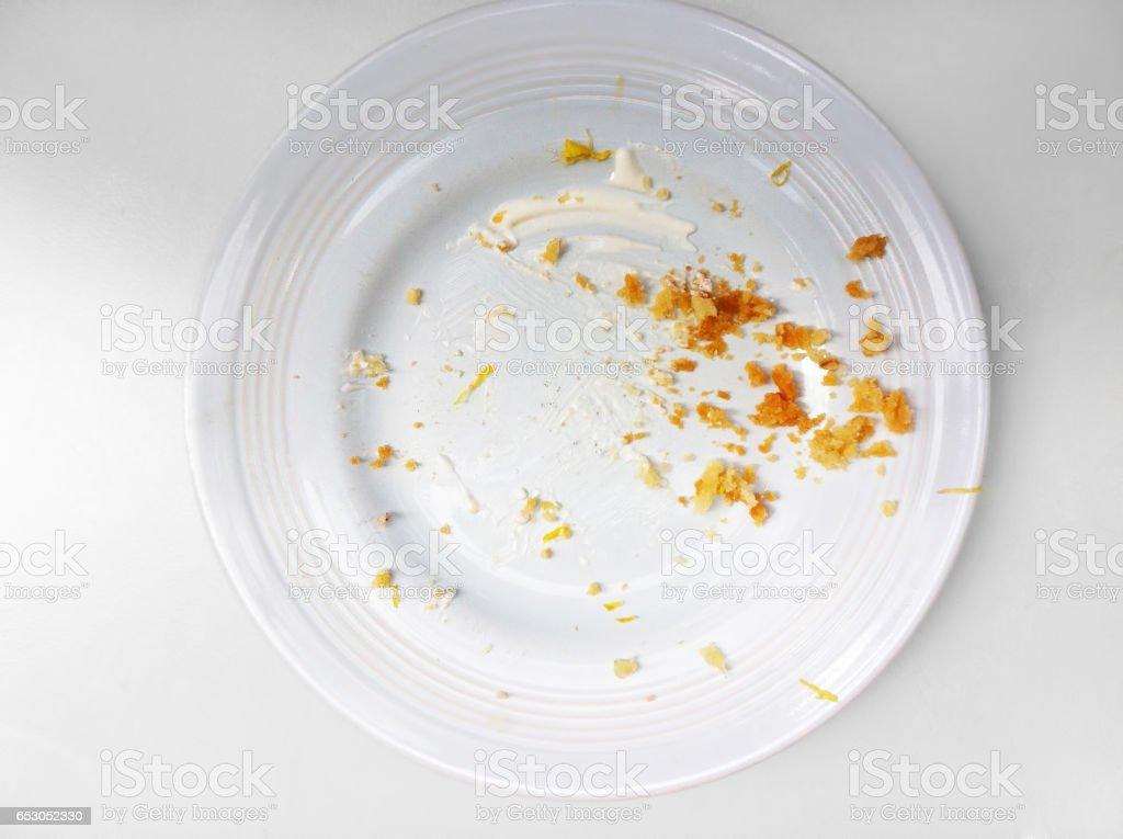 empty plate stock photo
