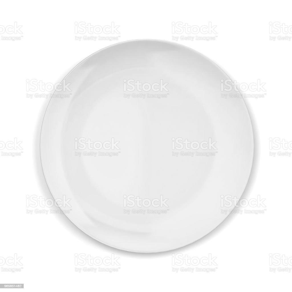 Empty plate - Royalty-free Blank Stock Photo