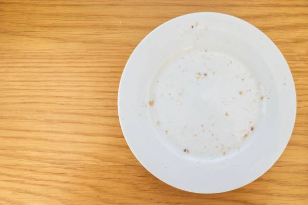 empty plate - briciola foto e immagini stock