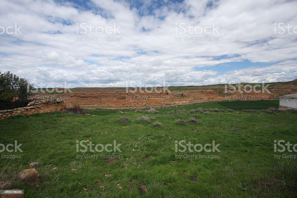 empty plot stock photo