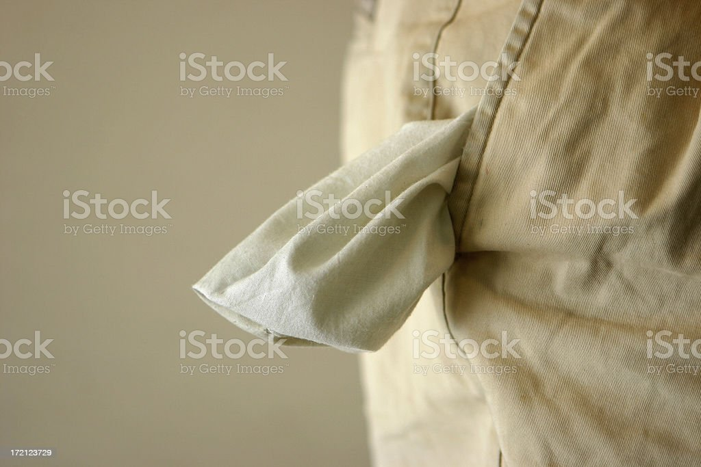 Empty Pocket stock photo