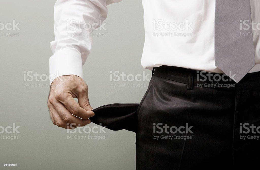 Empty pocket royalty-free stock photo