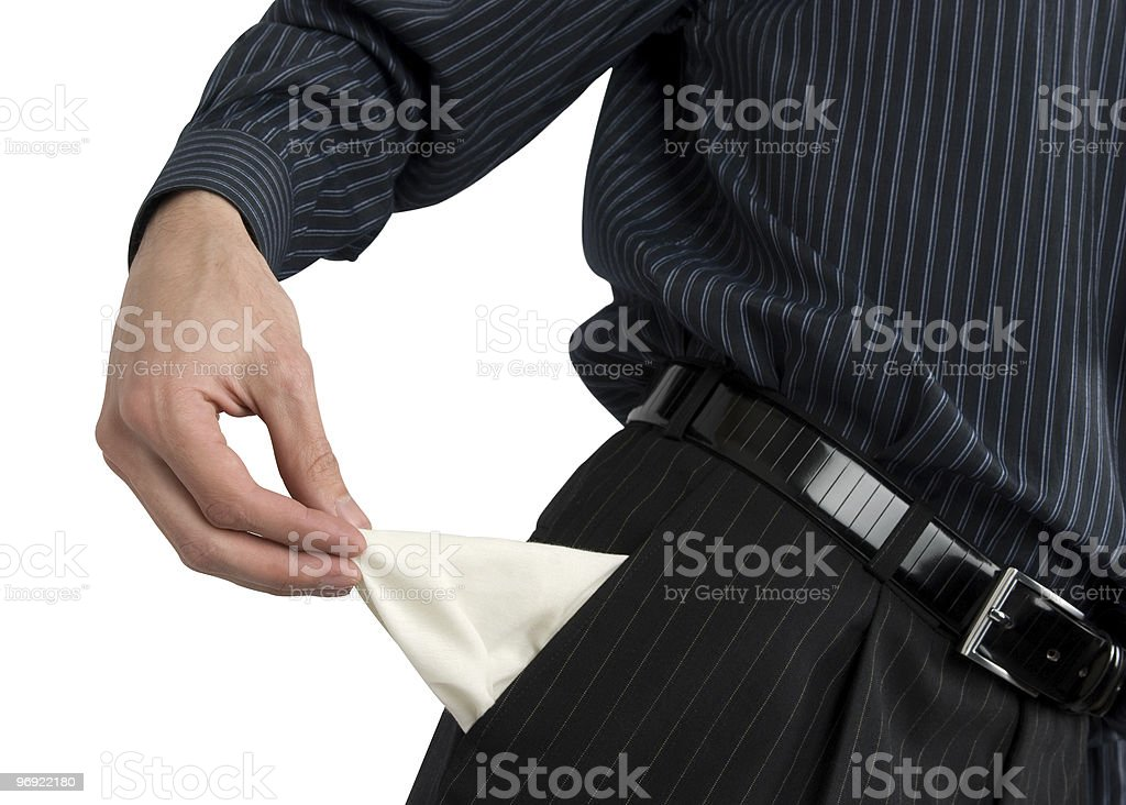Empty pockets royalty-free stock photo
