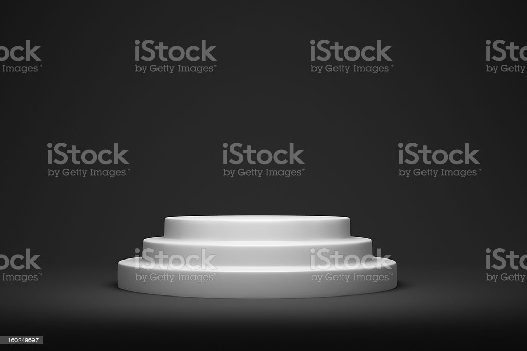 Empty podium royalty-free stock photo