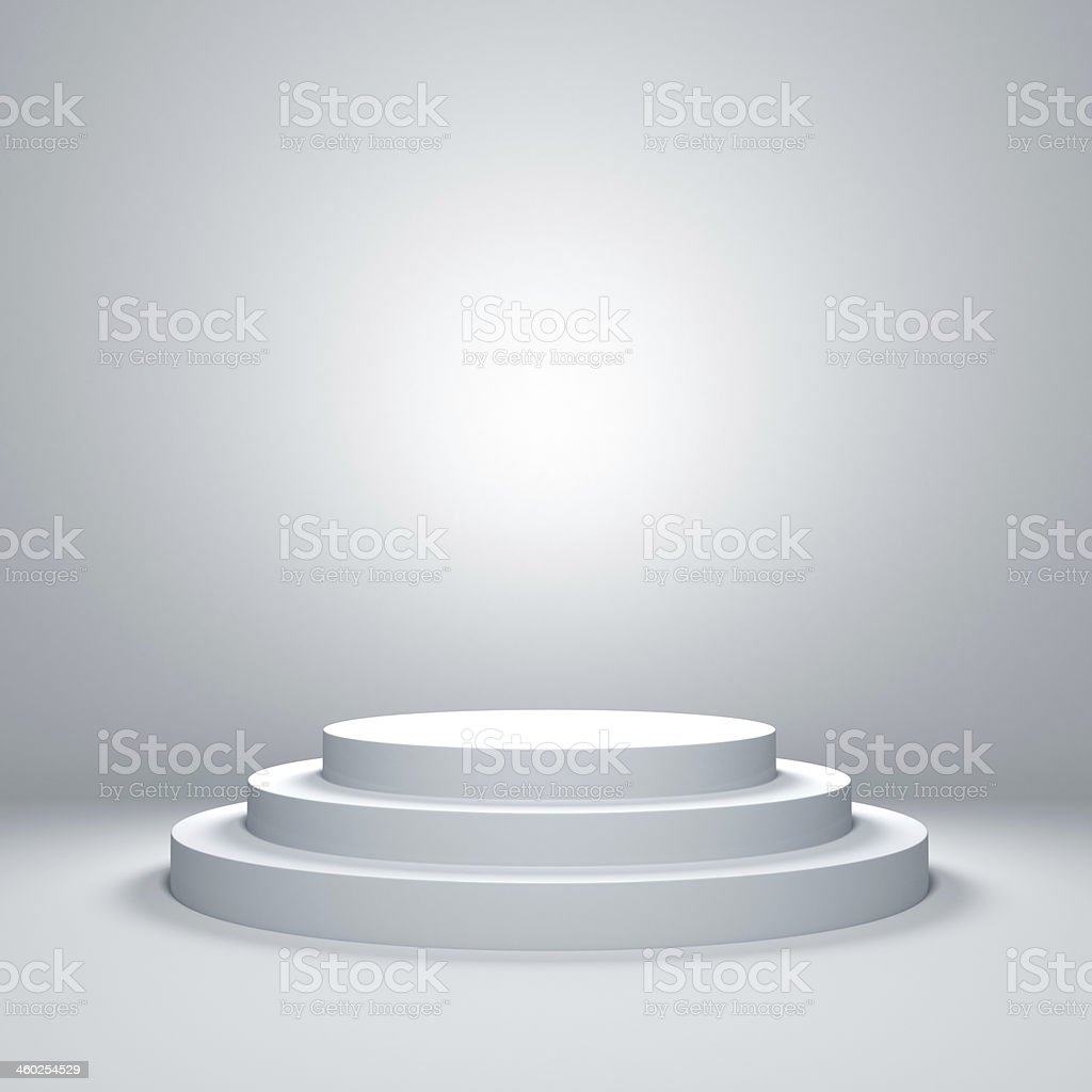 Empty podium stock photo