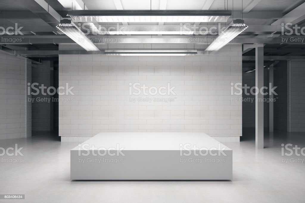 Empty podium stock photo
