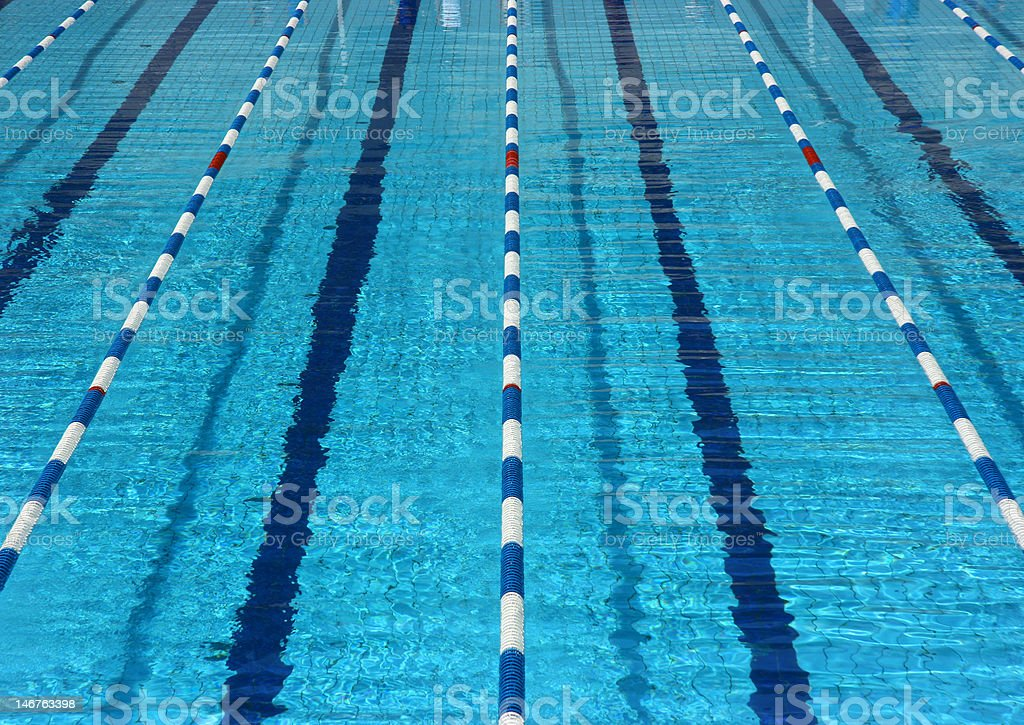 Empty pool lanes stock photo
