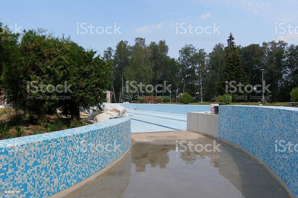 Empty pool royalty-free stock photo