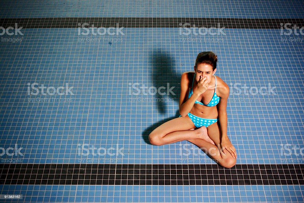 Leeren pool – Foto