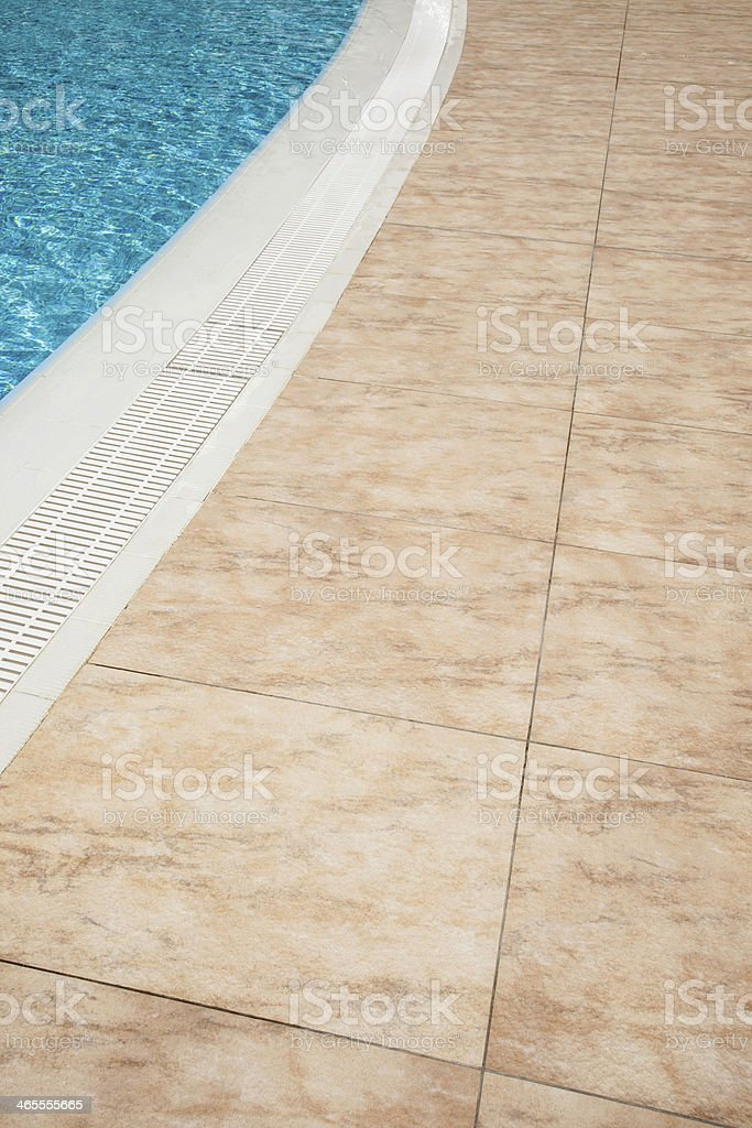Empty pool side floor royalty-free stock photo