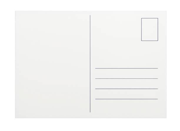 empty postcard on white background - postcard 個照片及圖片檔