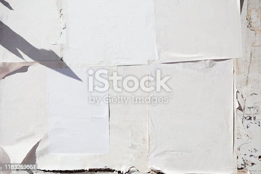 istock Empty poster on grunge wall 1183259861