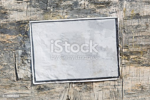 istock Empty poster on old board 512995934