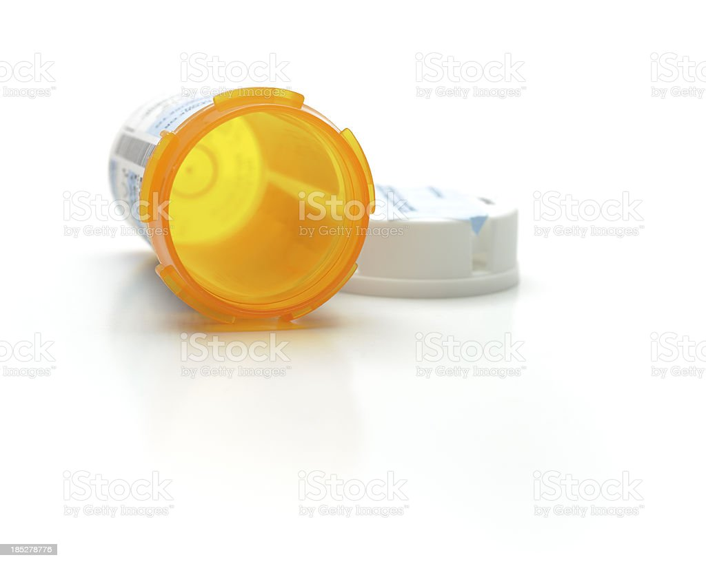 Empty Prescription Medicine Bottle stock photo