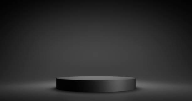 Empty Product Stand, Platform or Podium stock photo