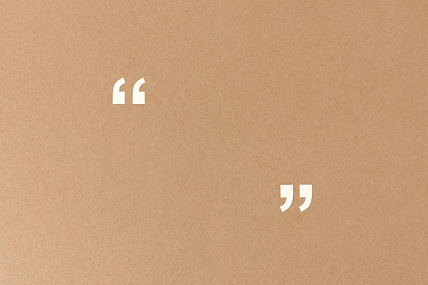 Empty quotation marks on recycling paper - Photo