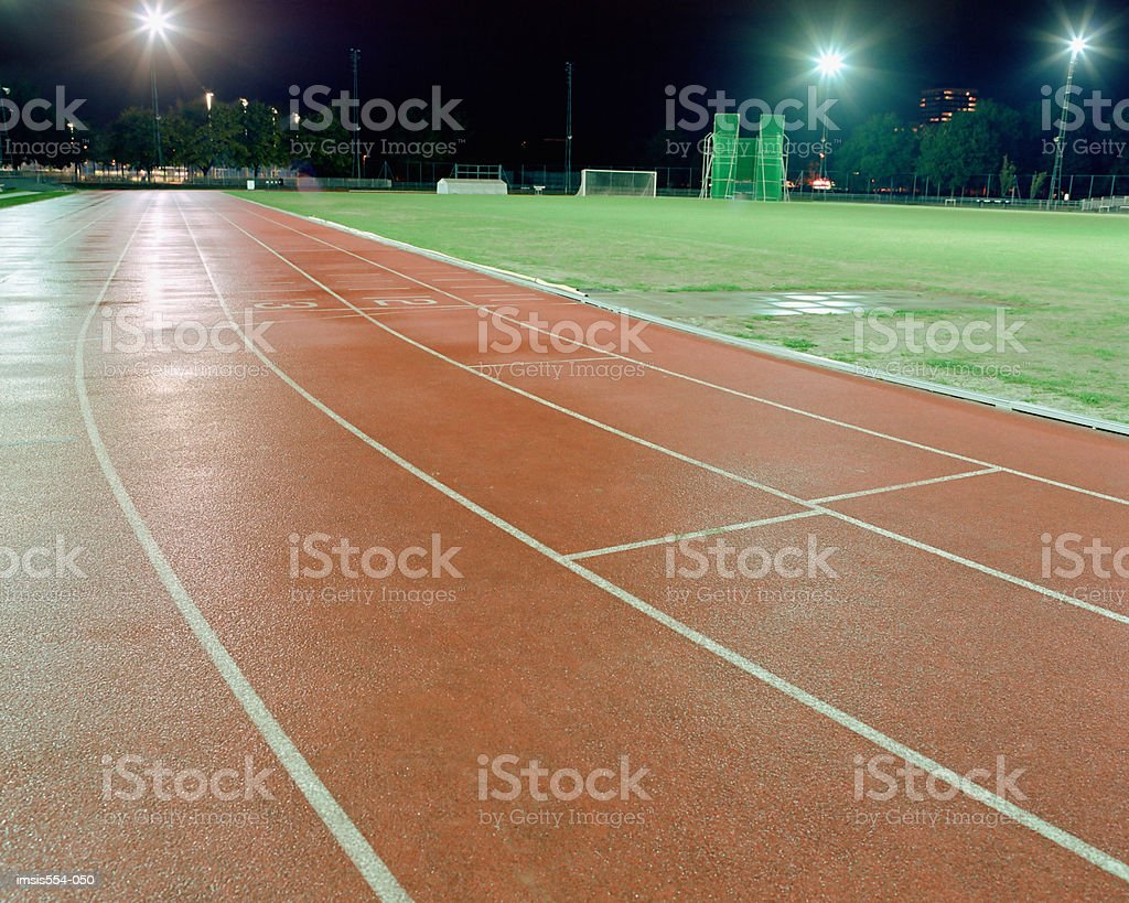 Empty race track royalty-free stock photo