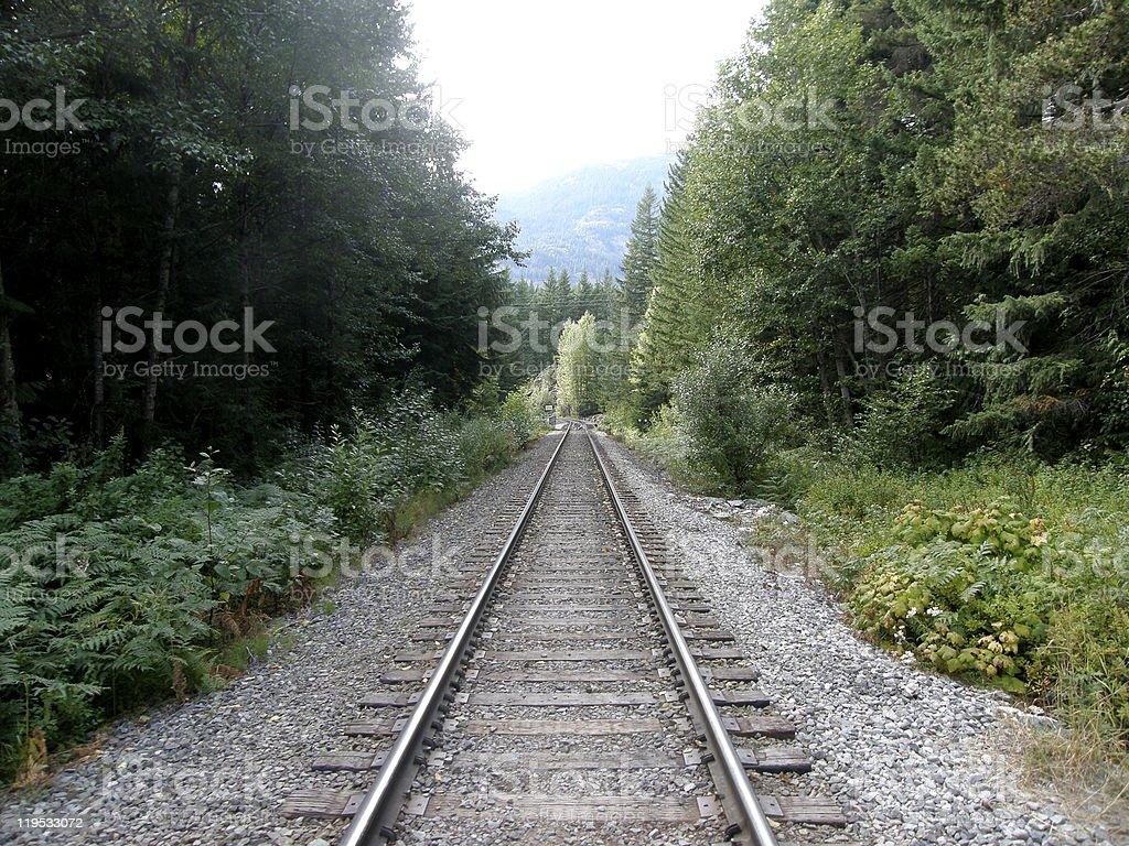 Empty Railroad royalty-free stock photo