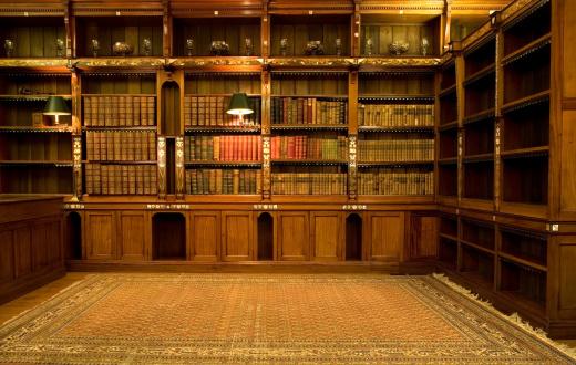 Empty reading room
