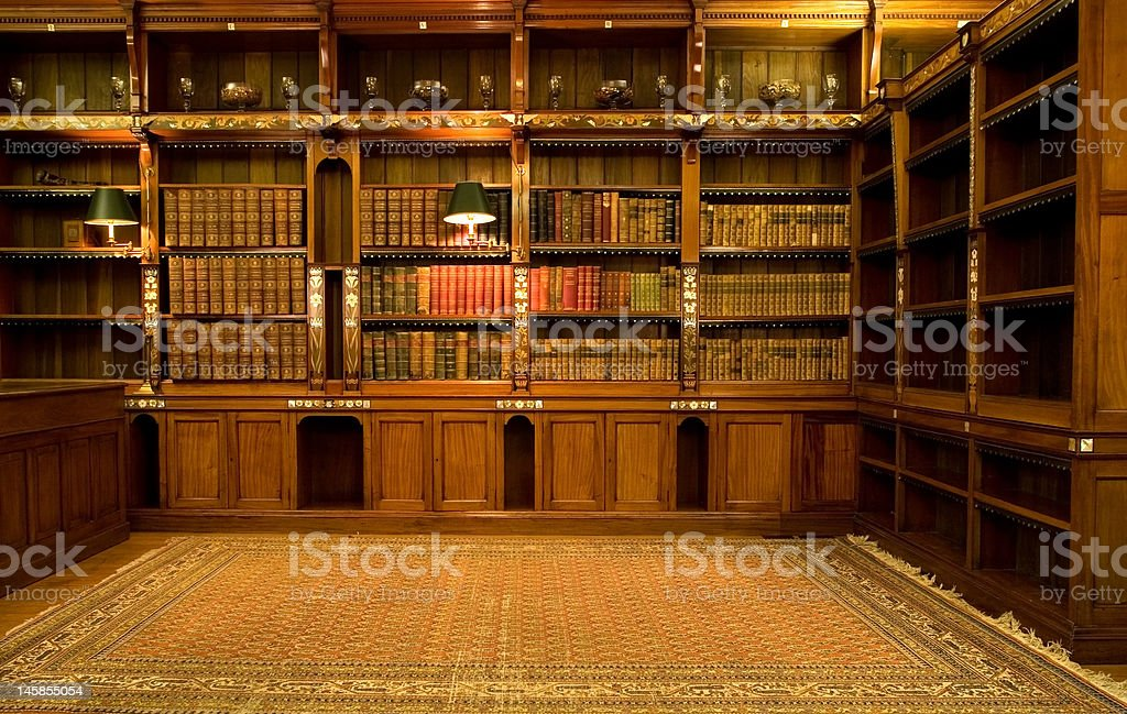 Empty reading room stock photo