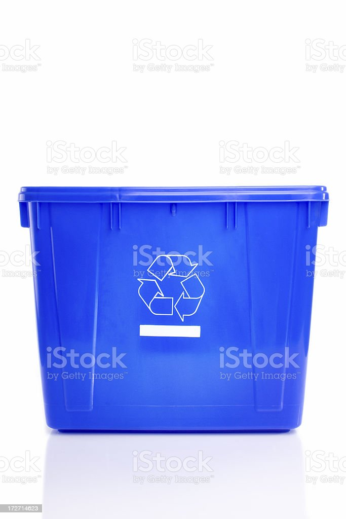 Empty recycle bin royalty-free stock photo