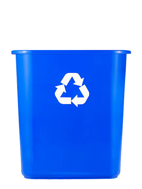 empty recycling bin - recycling bin stock photos and pictures