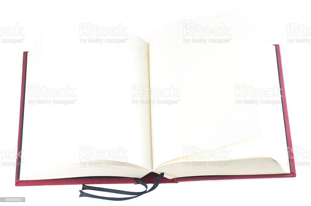 empty red book stock photo