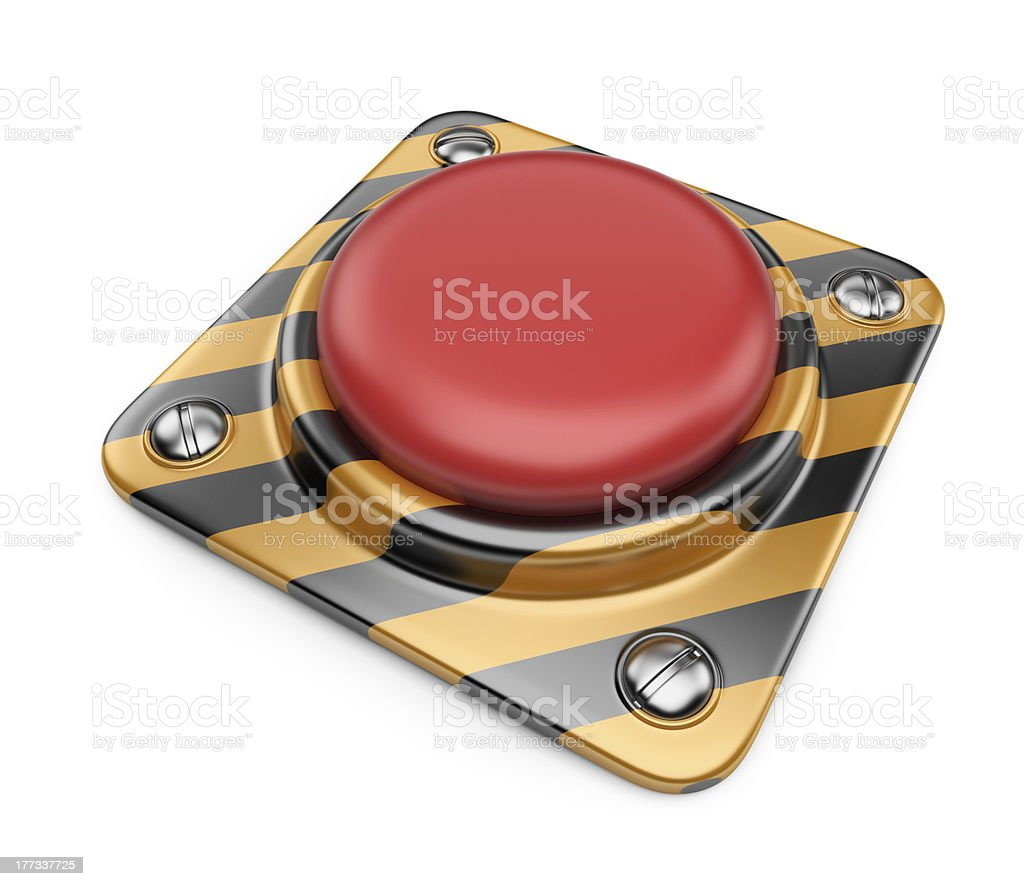 Empty red button. 3D Icon isolated stock photo