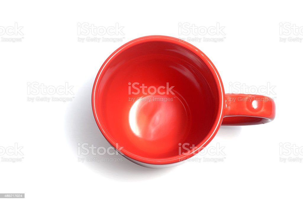 empty red coffee cup stock photo