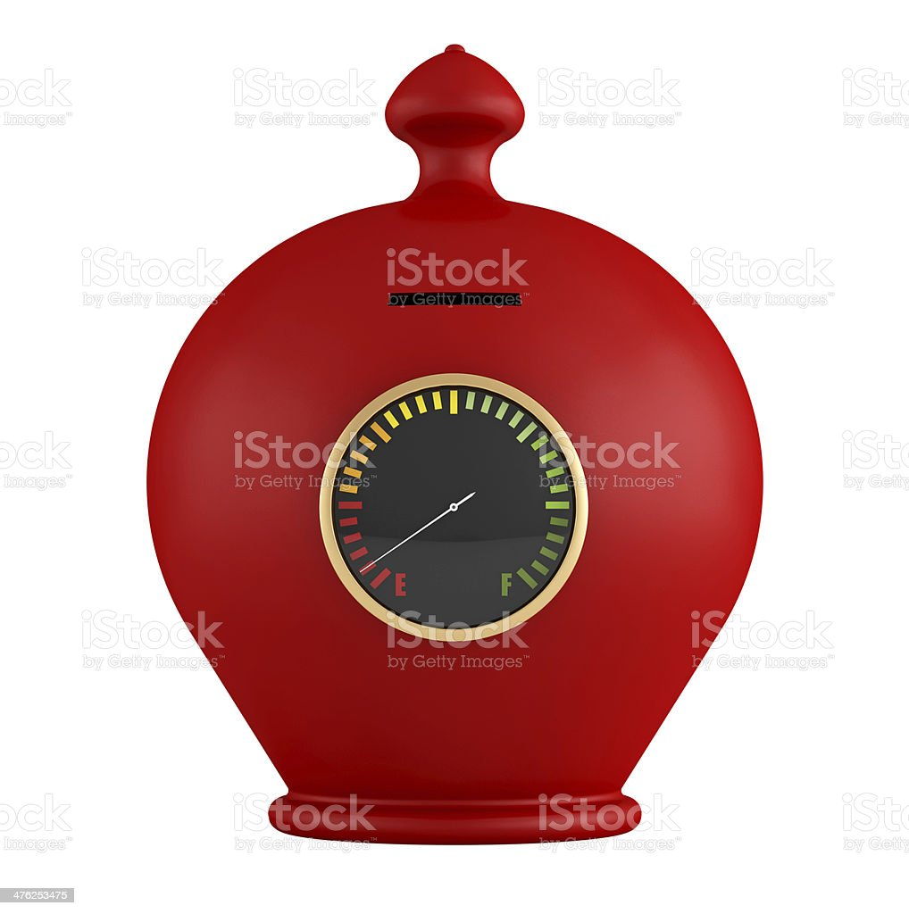 Empty red moneybox royalty-free stock photo