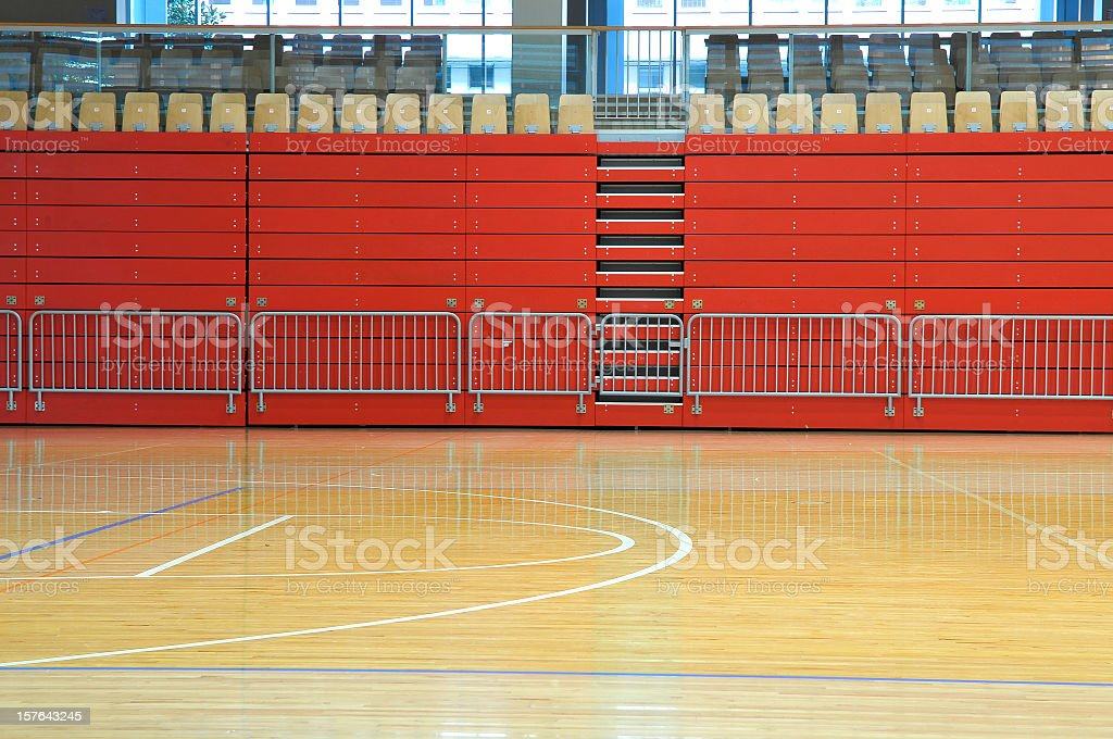 Empty Red Sports Hall royalty-free stock photo