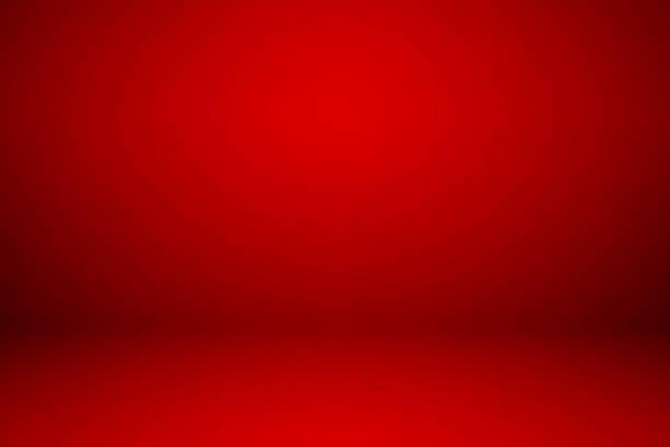 空の赤いスタジオ ルームのための背景として使用される製品を表示します。 ストックフォト