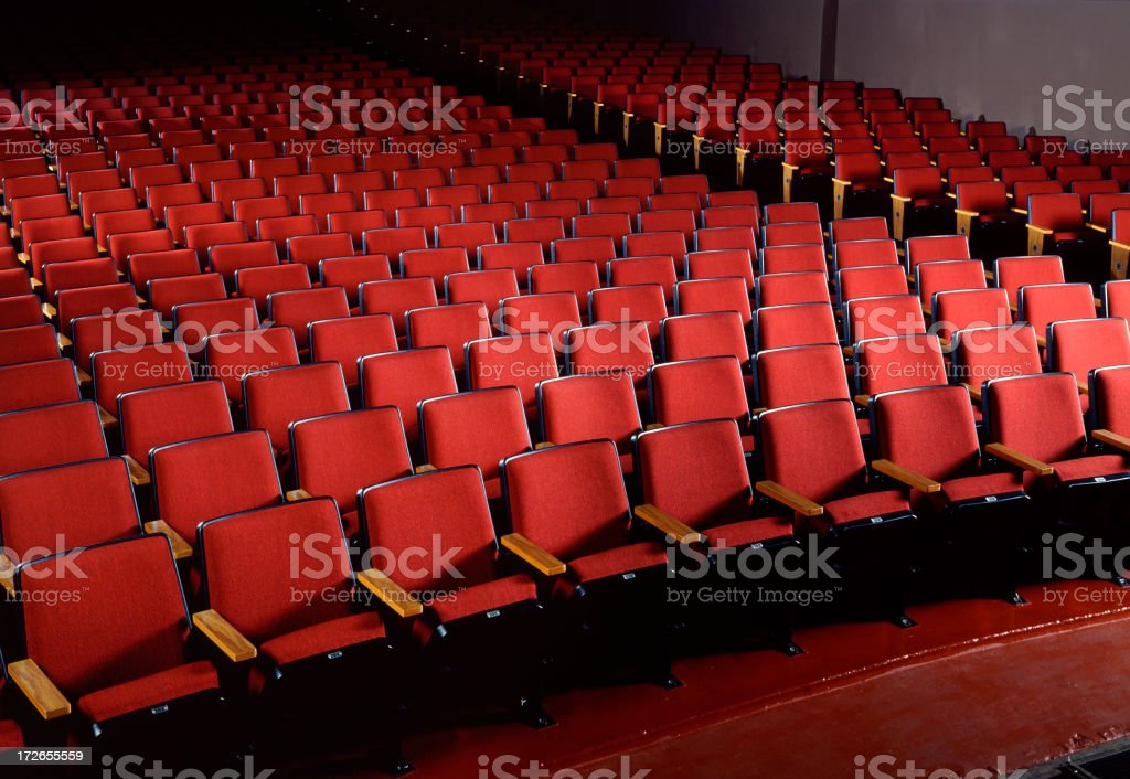 Empty Red Theater Seating 2 royalty-free stock photo