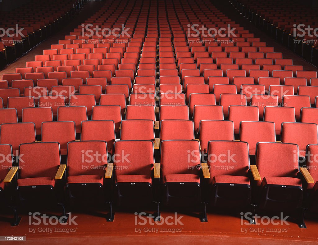 Empty Red Theater Seating royalty-free stock photo