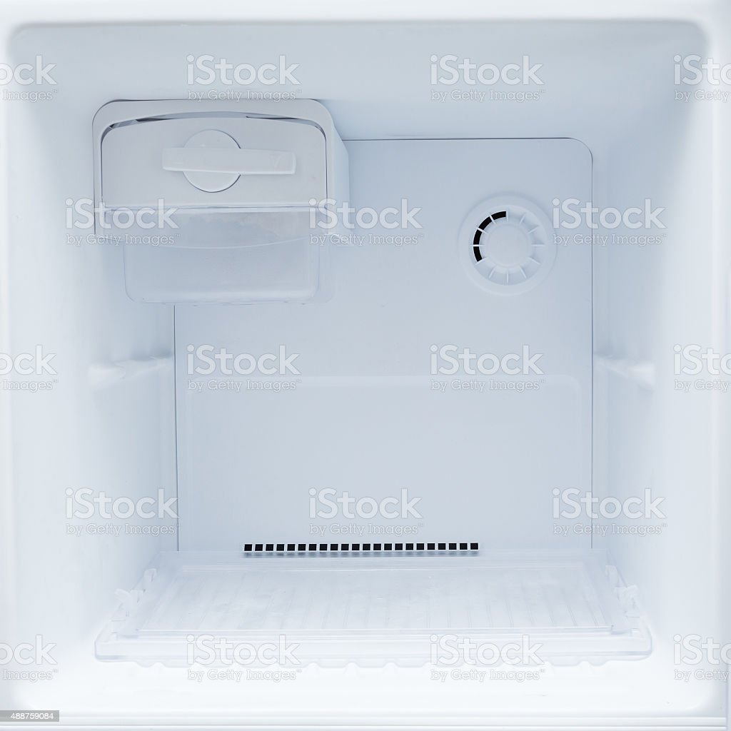 empty refrigerator freezer stock photo