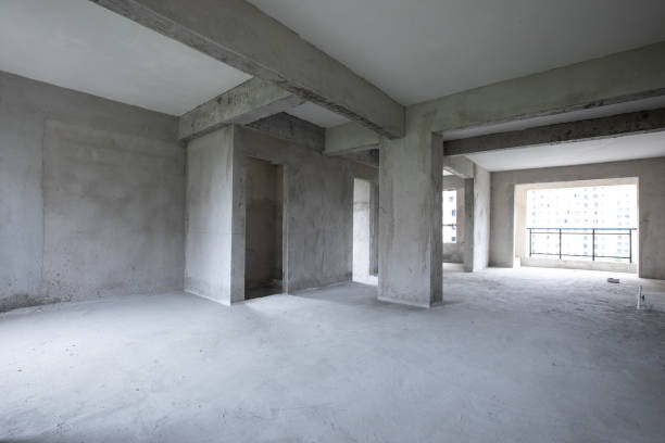 Empty residential apartment stock photo