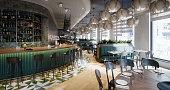 istock Empty Restaurant Interior 1290237592