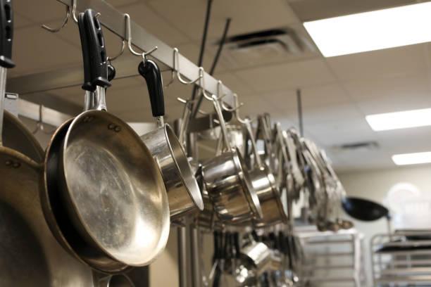 Empty restaurant kitchen stainless steel pots pans utensils picture id865428790?b=1&k=6&m=865428790&s=612x612&w=0&h=sfdwapqnyvuumtbx9r1mxt0zxx7 giohrhjopvrq7zk=
