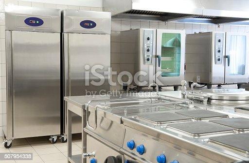 istock Empty restaurant kitchen with professional equipment 507954338