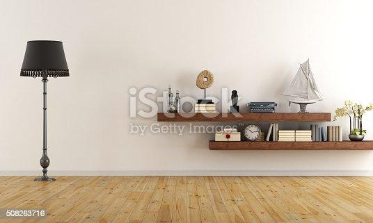 istock Empty retro living room 508263716