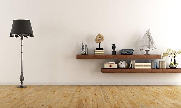 Vacía retro sala de estar - foto de stock
