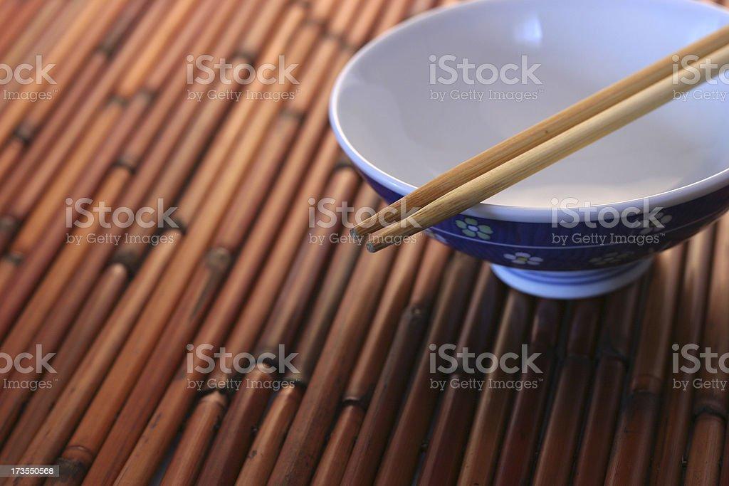 Empty Rice Bowl II royalty-free stock photo