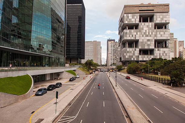 Empty Rio de Janeiro town - center stock photo