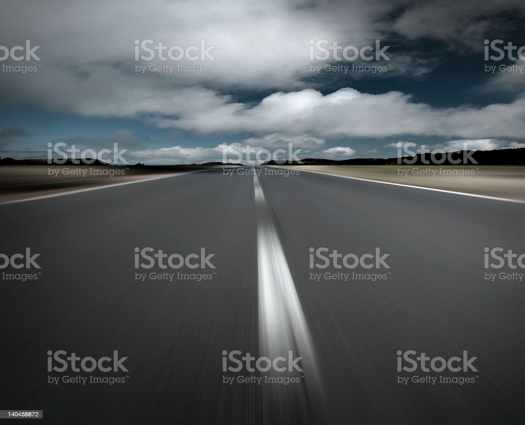 Empty road and clouds royalty-free stock photo