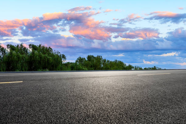 Cтоковое фото Empty road and sky nature landscape