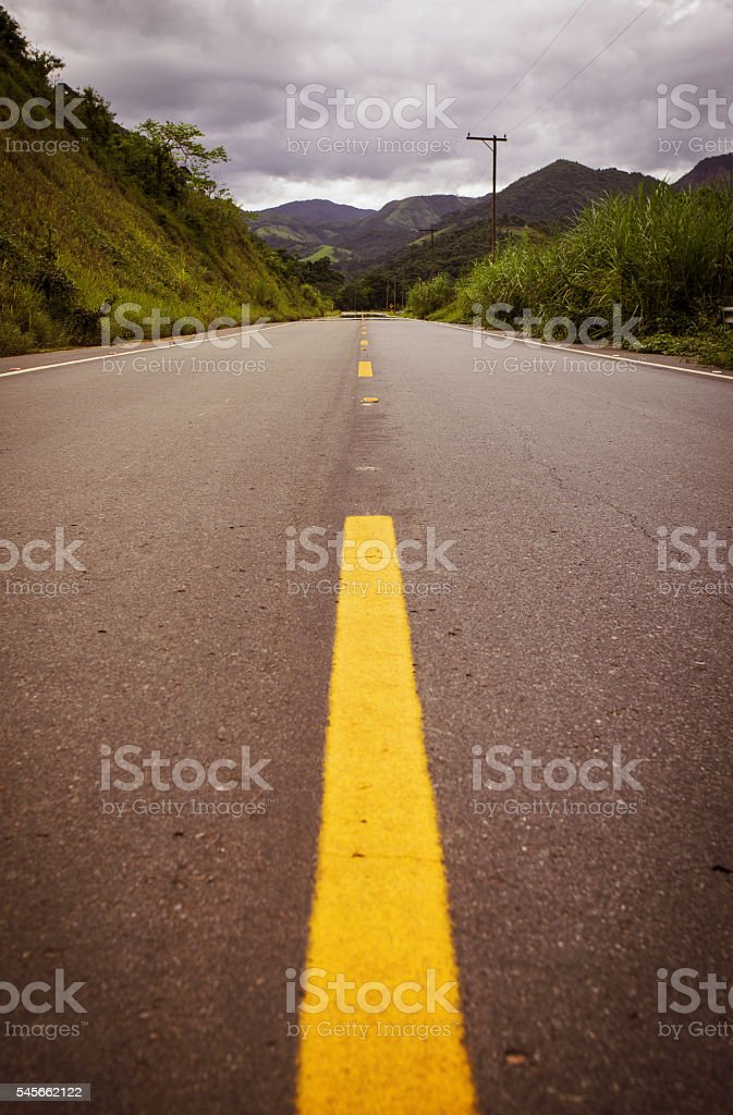 empty road at Brazil stock photo
