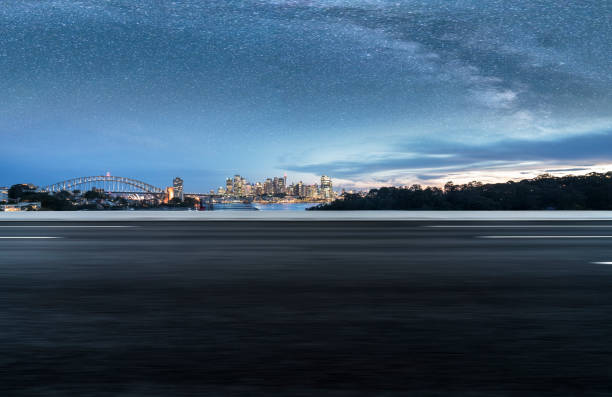 leere Straße von Sydney Harbour Bridge, Sydney – Foto